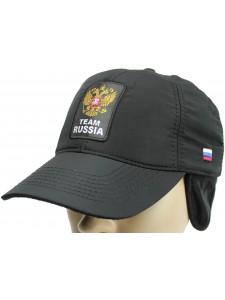 Зимняя бейсболка Russia артикул ZBRUS004