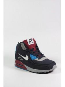 Зимние высокие кроссовки для бега Nike Air Max 90 артикул NKZ90017