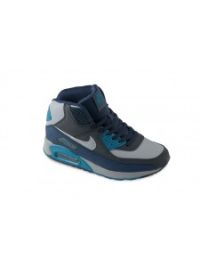 Зимние высокие кроссовки для бега Nike Air Max 90 артикул NKZ90012