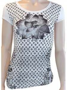 "Женская футболка ""LV"" артикул 5202-W"