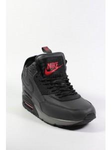 Зимние высокие кроссовки для бега Nike Air Max 90 Sneakerboot артикул NK90SNB004